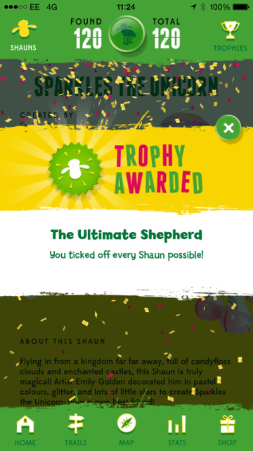 Image of the Shaun Trophy Award